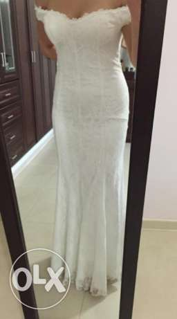 Custom made white lace  dress