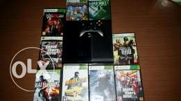 xbox 360 super slim used 3 weeks super clean with deal 9 games