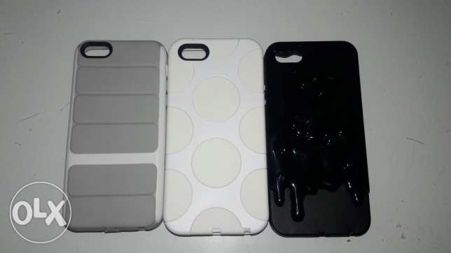 3 covers for iphone 5 , 5c , 5s