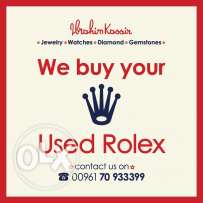 we buy your used rolex