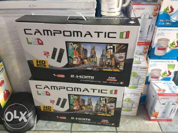 tv led 25 inch campomatic with one year warranty ( new in box)
