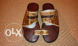 African real leather slipper size43