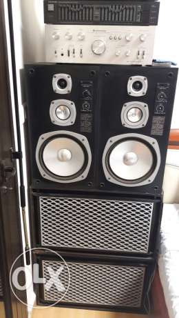 Speakers with amplifier and equalizer