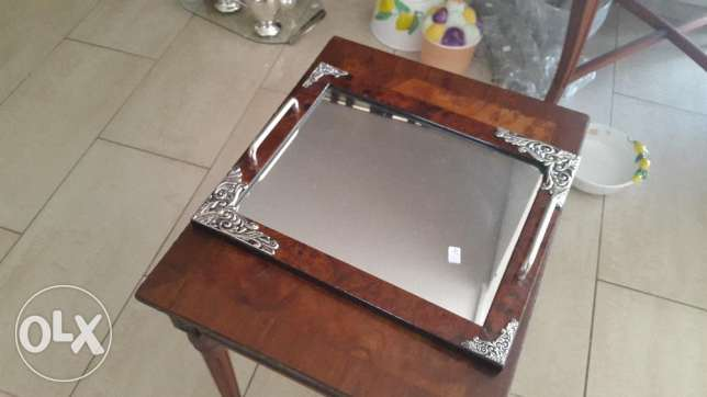 Serving Tray with mirror