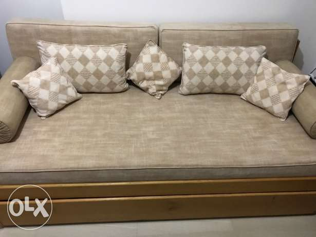 sofa bed with 2 mattresses
