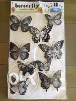 2 D butterflies stickers decoration