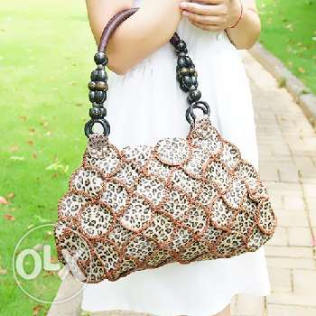 Leather patchwork handbag (Free delivery)