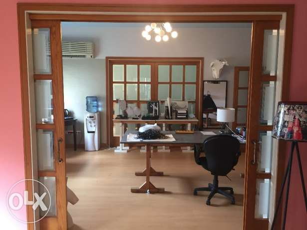 A Bright 300sqm Office For Rent in Mansourieh