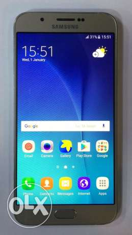 samsung A8 gold 4G like new برج ابي حيدر -  1