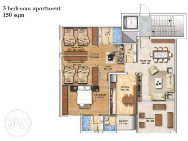 Apartment in Ballouneh for sale