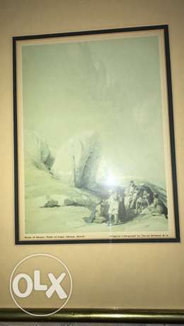 framed print painting of David Roberts