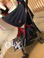 Maclaren stroller red and blue