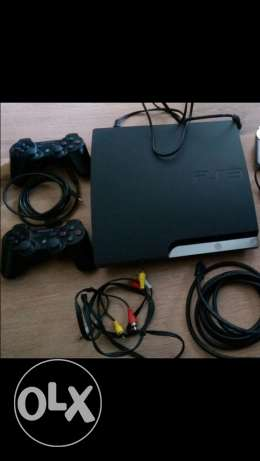 PS3 slim 320GB+F1 2011 game+2 controllers (perfect condition)