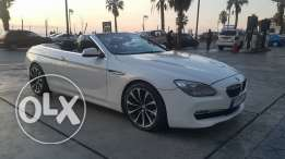 BMW Convertible/ 640 white /2011 مصدر و صيانة الشركه Full / Large Scr
