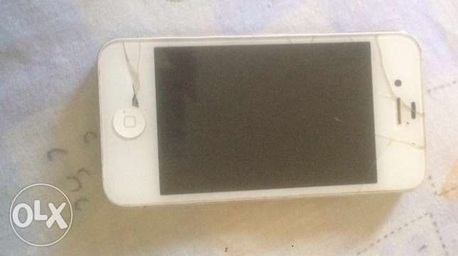 iphone 4s white very good condition 60,000 alf