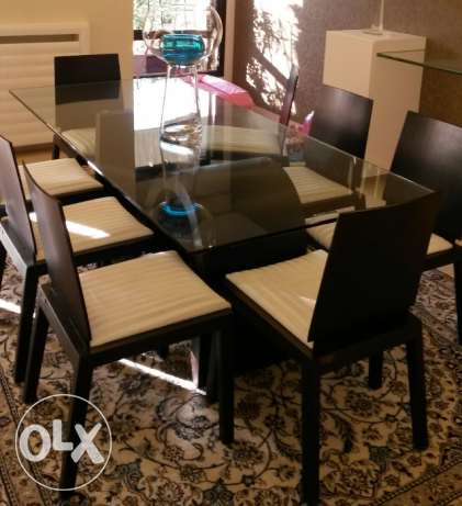 Luxurious DINING TABLE with 8 Chairs المرفأ -  1