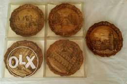 5 (3D) Wall Plaques Engraved / London Souvenirs