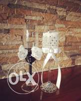 Blinged Out Champagne Glasses
