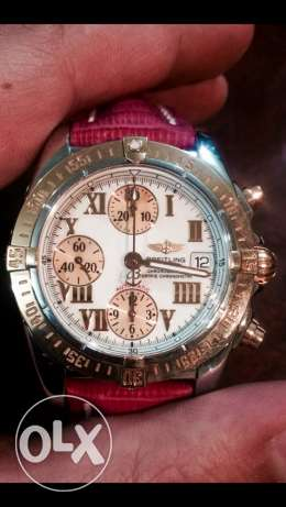 Breitling c13358 rose gold and steel