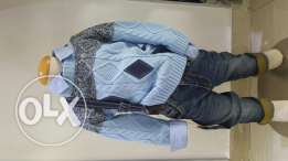 Set of 3 : jeans, shirt and cardigan (turkish)