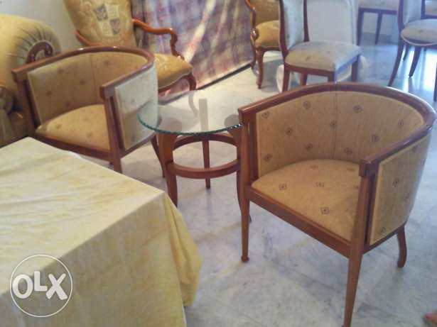 2 armchairs as the photo without table high quality