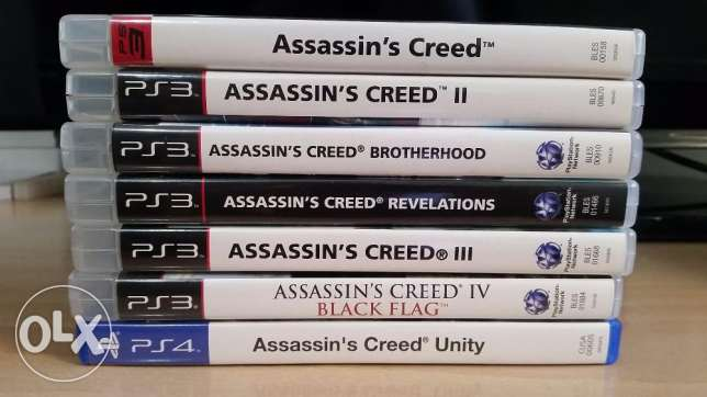 Assassins Creed Series (7 games) Group or Individual sale