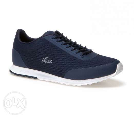 Original lacoste rubber and fabric shoes navy color