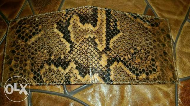 2 snake leathers real wallet+ bellt from africa