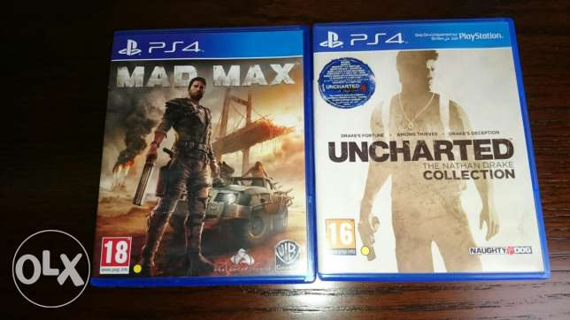 Mad Max and Uncharted 1,2,3