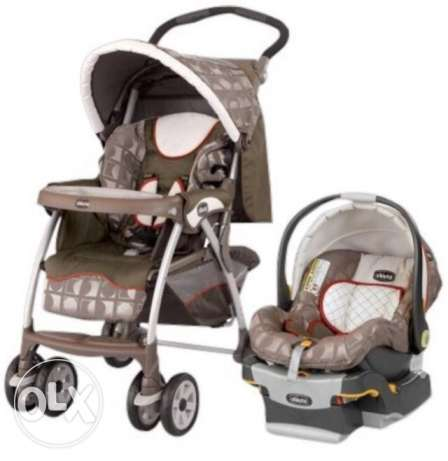 chicco stroller and carseat with base خلدة -  1