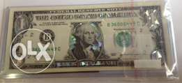 one dollar legal tender banknote colorized