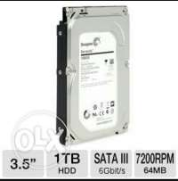 HDD Seagate 1TB brand new in box.