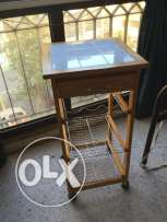 Kitchen table drawers stool with wheels