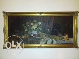 Antique oil signed painting
