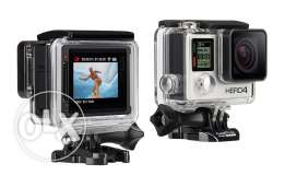 Go Pro Hero 4 silver with screen