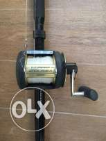 Shimano réel and rod for trolling Tuna fishing