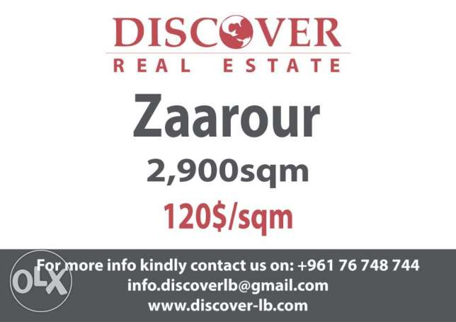 Land for sale in Zaarour