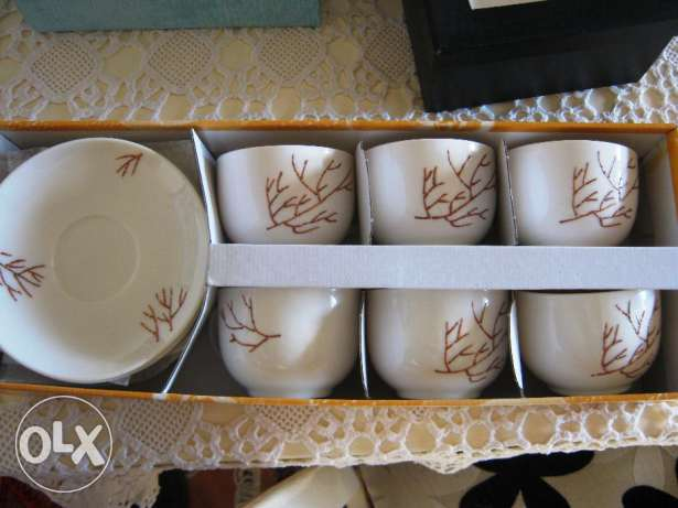 6 crafted handmade cups, 40$ instead of 90$ جديدة -  1