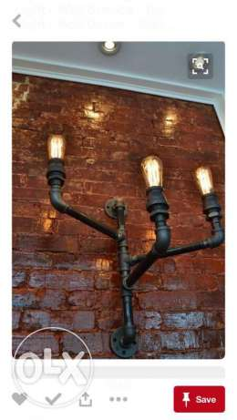 mounted pipe lamp