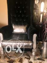 2 black and silver bergere as new high quality