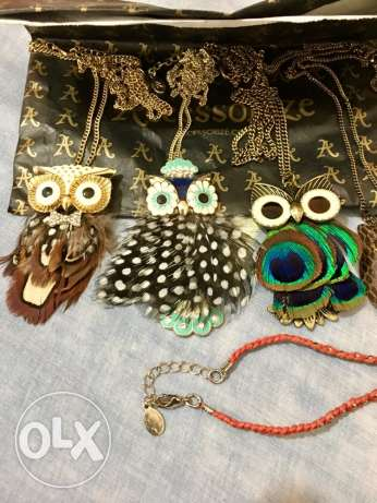 large collection of 14 owls fashion accessories brand new, never used.
