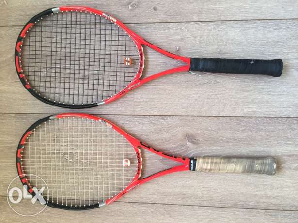 tennis rackets in perfect condition