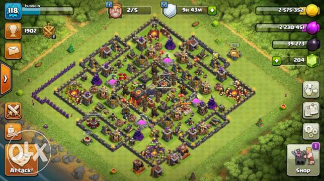 Clash of clans TH9.5 account