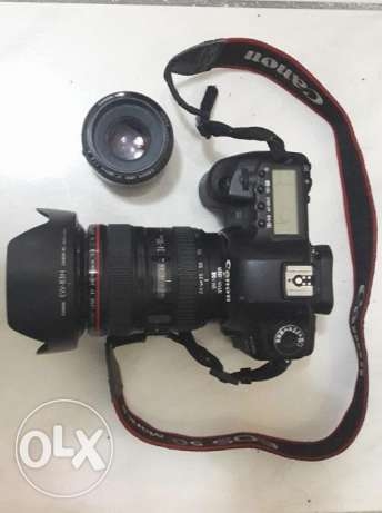 canon 5d mark II +lens canon EF( 24-105 stabilizer + 50 fix)
