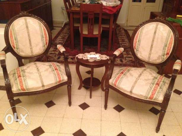3 pieces vintage louis 16 salon $ 700