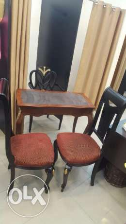 Antique Console with 3 Chairs