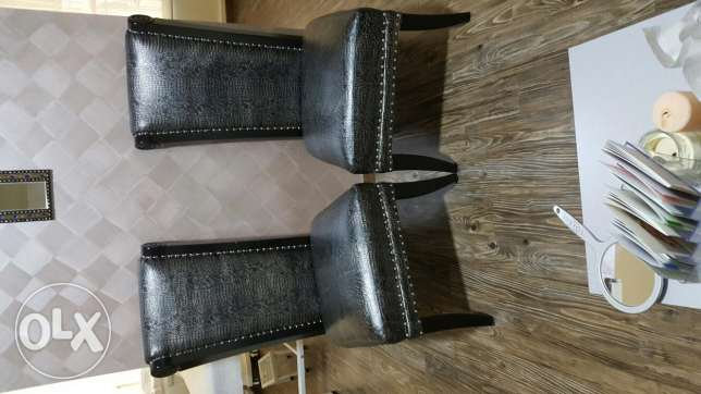 8 chairs ..Real leather