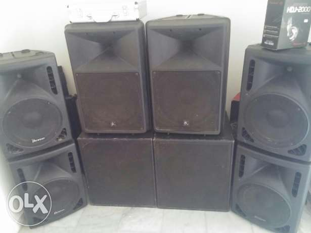 6 Speakers for sale 2 bass very good conditon only for1500$ الكورة -  1