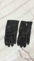Real Leather gloves blackجلد اصلي