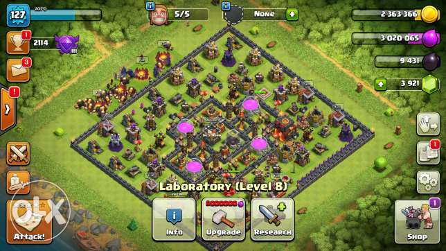 Clash of clans 4 accounts